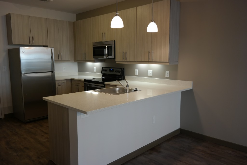 A sneak peak of the model at the residences at harlan for The model apartment play